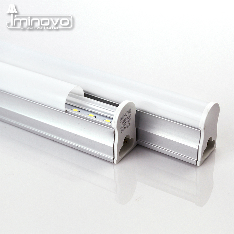 IMINOVO T5 Integrated Tube LED Light Bulb AC110V 220V 300MM 6W 30CM 10W Milky Cover Cool/Warm Lamp Kitchen/Cabinet With Switch