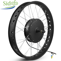 20 inch 26 Brushless Hub Motor Snow Rear Motor Rim Electric Bicycle Conversion 48V 750W FAT 170 175mm Screw Cassette 190mm