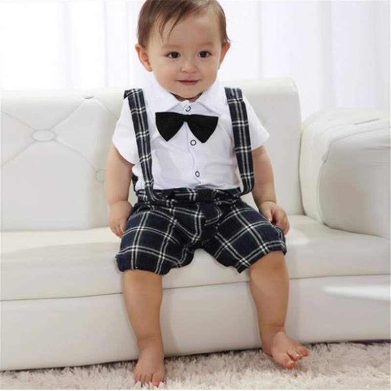 Handsome Baby Boy Wedding Bow-tie Occasion Christening Tuxedo Suit Outfit + Vest For 0-3Y