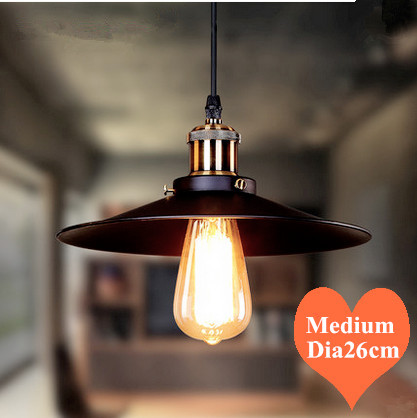 Modern creative pendant lights industrial hang lamp lustres de sala iron medium E27 LED light for porch&bar&dining room CYDD009B 40cm acrylic round hanging modern led pendant light lamp for dining living room lighting lustres de sala teto