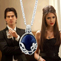 The Vampire Diaries Katherine Necklace Natural Stone Pendant Clavicle Necklace For Women Movie Jewelry Choker Long Chain H0056