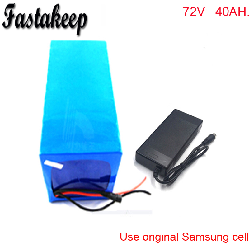 Top Diy rechargeable72v 3000w elektrofahrrad akkus lithium battery 72v 40ah electric motocycle battery pack For Samsung cell 0