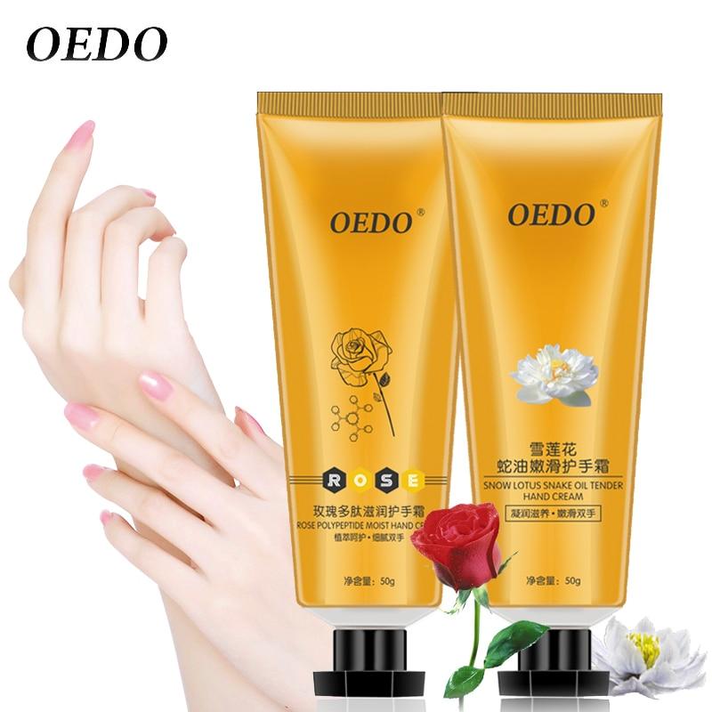 OEDO Hand Cream Rose Peptides+ Snow Lotus Set Antifreeze Moisturizing Hydra Repair Cream Anti Wrinkle Whitening Hand Skin Care