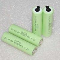 UNITEK 1,2 V AA batería recargable 2500mah 2A ni-mh nimh Paquete de células con pestañas pins Para Philips Braun Afeitadora eléctrica cepillo de dientes