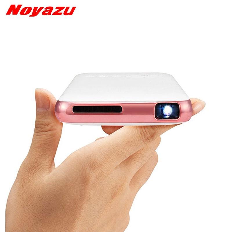 Noyazu Mini Projecteur De Poche 5000 mAh Batterie DLP WiFi Portable De Poche Smartphone Projecteur Android7.1 BluetoothL Poche BEAMER
