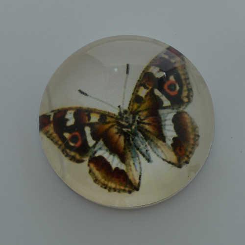 Botones a presión de mariposa grande de 18mm, estampado y cubierta de cristal broches para pulseras de broches de presión de jengibre broches de joyería NC1759
