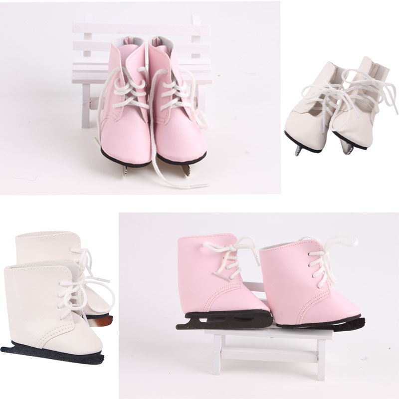 LUCKDOLL Fashion Skates For 18-Inch US 43 Cm Doll Clothes Accessories, Girl Toys, Generation,Birthday Gifts