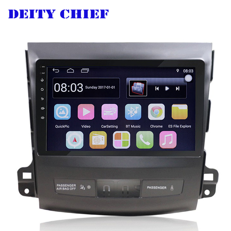 Android Multimedia Player Car GPS for MITSUBISHI outlander 2006 2011 player Radio 9inch