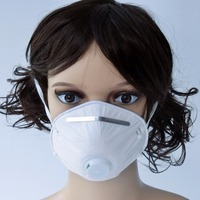 En gros 1000 Pcs N96 PM2.5 4-Ply Antidust Souffle Valve Filtre À Charbon actif Respirateur Bouche Masque Antibactérien Bouche-moufle