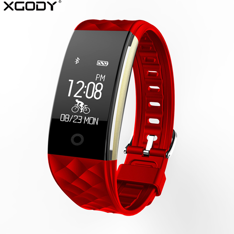 XGODY S2 Smart Watch With Heart Rate Monitor Pedometer Cycling Fitness Tracker Bracelet Reminder Smartwatch for iphone Android
