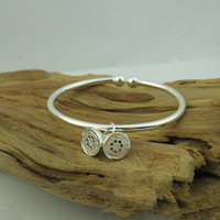 AUTHENTIC S925 STERLING SILVER BANGLES CUTE BRACELETS FOR GIRS JEWELRY FOR WOMAN