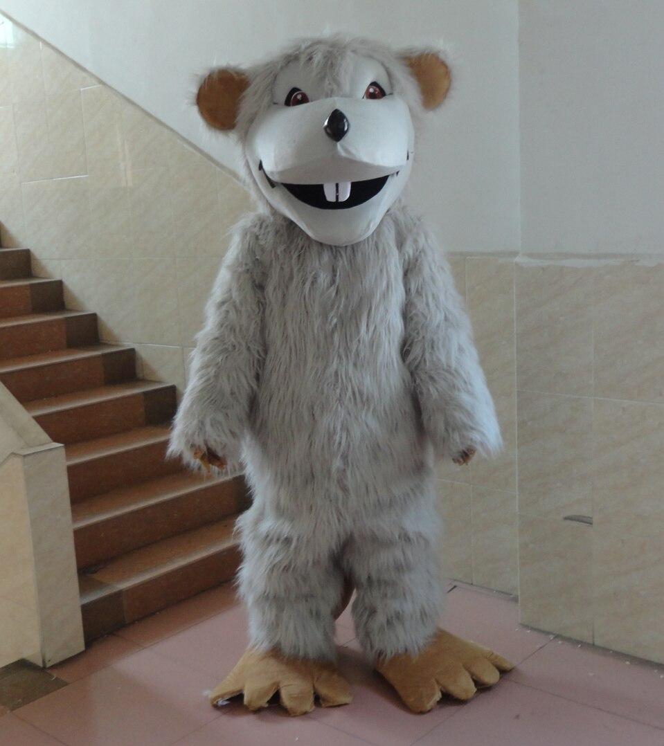 Souris gris dessin animé mascotte Costume fantaisie robe Animal mascotte costume vacances vêtements spéciaux pour Halloween costumes de fête