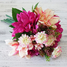 Hydrangea  Peony Wedding Bouquet  Brooch bouquet wedding accessories artificial Dahlia Wedding flowers Bridal Bouquets