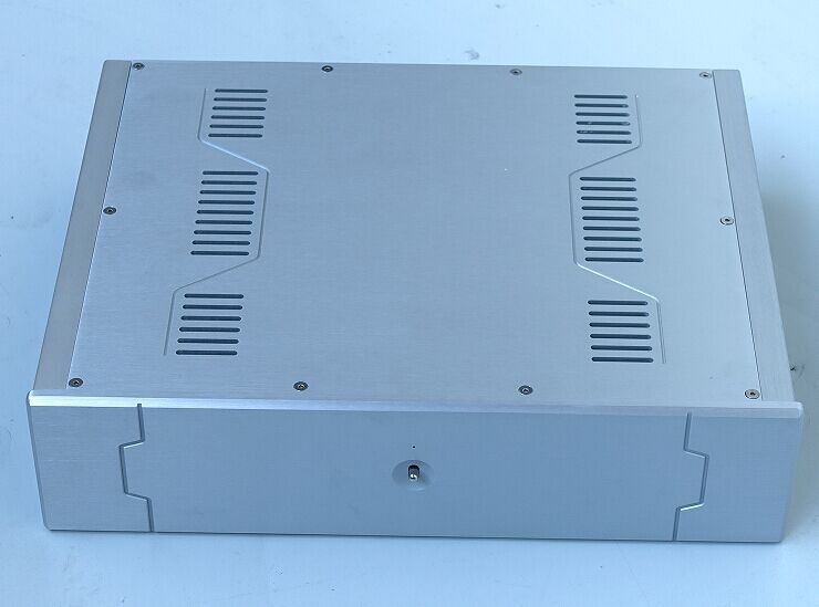 BZ4310C All Aluminum Power Amplifier chassis / Integrated Amp Enclosure / Preamplifier Case DIY Box 430MM*105MM*340MM bz3008 all aluminum amplifier chassis preamp integrated amplifier amp enclosure case diy box 280 70 211mm