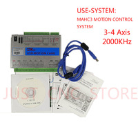 CNC Mach3 USB Motion Card XHC Controller Breakout Board 2MHz Support Win7 speed controller dc pwm