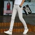 Men's Slim Pants Solid color Straight Casual Pant Cotton Male Mid Waist Pants /Trousers Pantalones Hombre MQ460