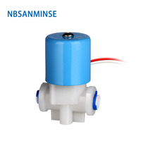 SMLC 10 Series Water Dispenser Plastic Solenoid Electric Valve Normally Closed Direct Acting R 1/4