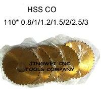 Лужение HSS CO циркулярной пилой лезвия фреза 100 мм * 0.8 1.0 1.5 2.0 2.5 3.0 мм для нержавеющей сталь