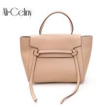 0d6cab41123e Brand Belt Knot PU Leather Bags Female Designer Handbag High Quality  Shoulder Bags Luxury Tote wing