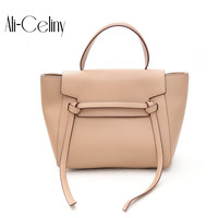 Brand Belt Knot PU Leather Bags Female Designer Handbag High Quality Shoulder Bags Luxury Tote wing Bags For Women 2018