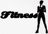 Fashion Fitness Vinyl Wall Decals Sport Fitness Crossfit Female Woman Girl Wall Sticker Fitness Centre Bedroom Home Decoration