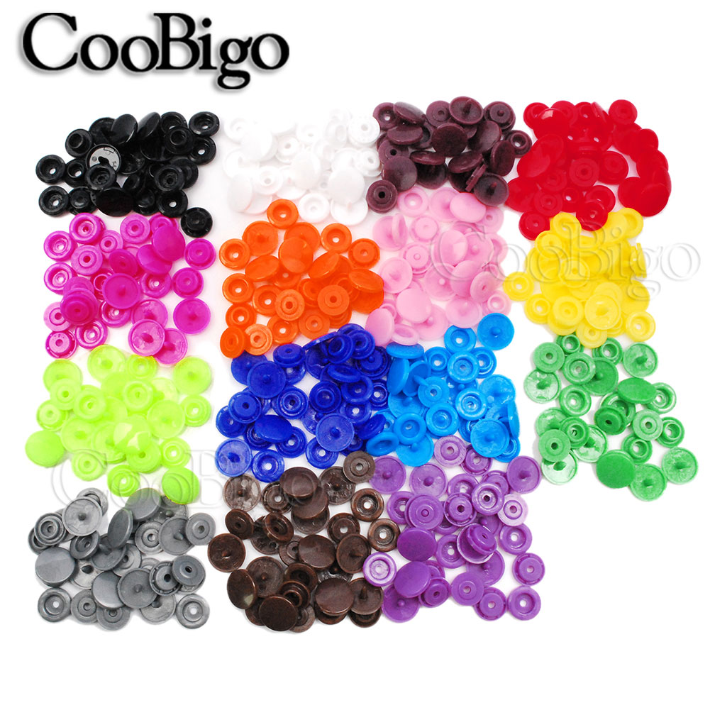 CooBigo Plastic Snaps Button Button Garment Accessories
