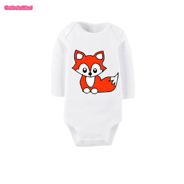 0c703459d Culbutomind 2017 New Baby Boys Girls Cute Fox Triangle Body Suit Playsuit Outfits  Clothing Baby Shower Gift