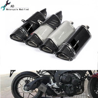 For Yamaha YZFR6 Motorcycle Carbon Fiber Slip On Exhaust Pipe 51MM Muffler for YAMAHA R6 R3 Hot Model Motorbike Parts Accessory
