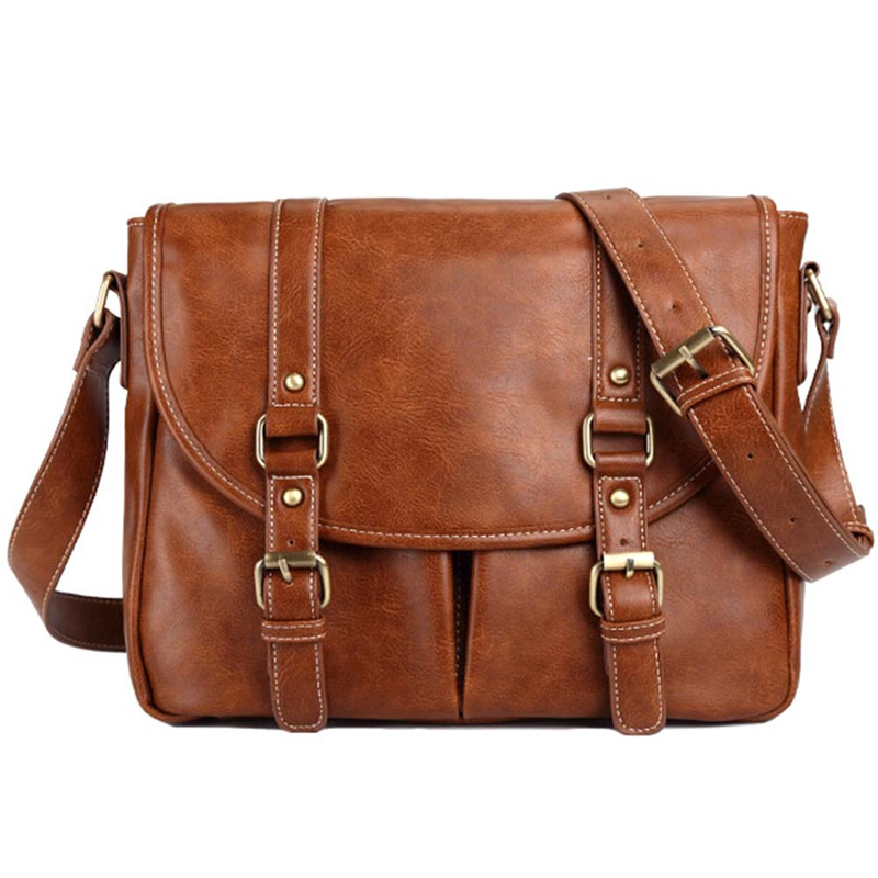 2018 Vintage Classic Briefcase PU Leather Bag Men's Handbag Casual&Business Bag For 13