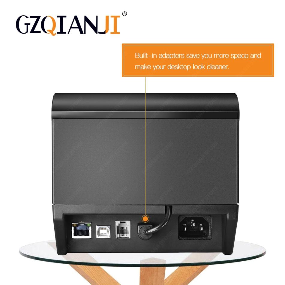 80 millimetri termica per Ricevute POS Bill stampante Bluetooth Wifi USB Porta della cucina POS Stampante con Taglierina Automatica Per Il sistema pos latte negozio di tè - 2
