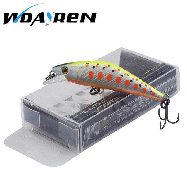 WDAIREN 1PCS wobblers carp fishing 13 Colors 5.4cm 4.7g Hard Bait MINI Minnow Crank Fishing lures TOP artificial bait FA-486