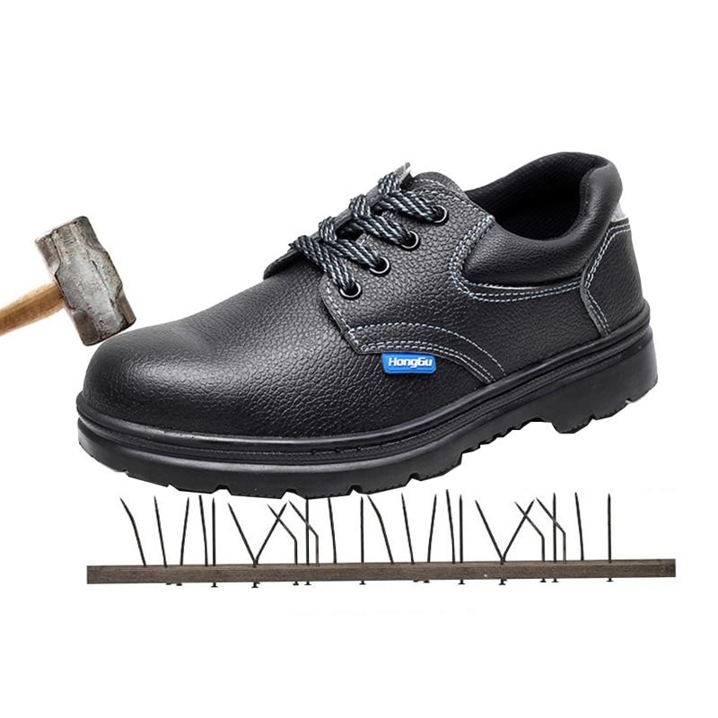 Óleo Sapatos Skid Anti Proteção Resistentes Cabeça Punção Ao Resistente Aço Segurança De Esmagamento 4H6g8q