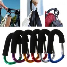 Baby Stroller Hanger Aluminum Alloy Bag Hook Hanging Outdoor Children Cart Shopping Colorful Foam Handle Climbing Hooks High