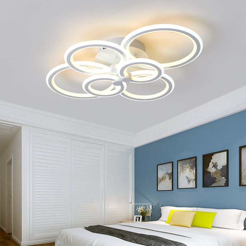 Double Glow Modern led chandelier for living room bedroom study room remote controller dimmable ceiling chandelier AC90-260V