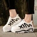 Мода весна повседневная обувь девушку 2016 удобные платформы женский досуг повседневная обувь лифт chaussures залить femmes