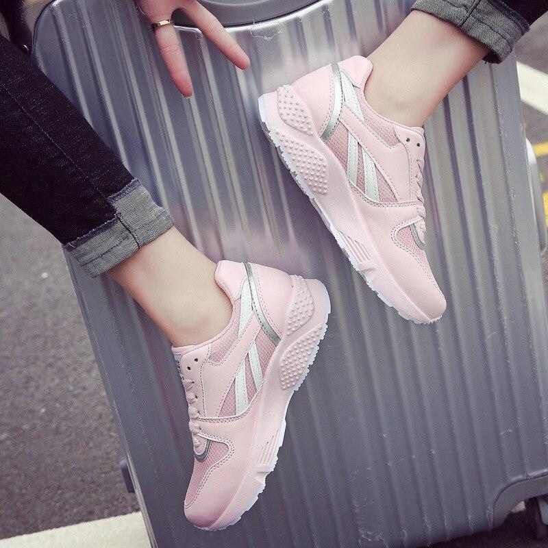 Della Nero Piattaforma 2018 Retro Modo Scarpe Calzature Il Donne colore Tennis Bianca Da Scarpa Traspirante Chaussure Signora Autunno bianco Delle Rosa Di Nero xwzrHn8z0q