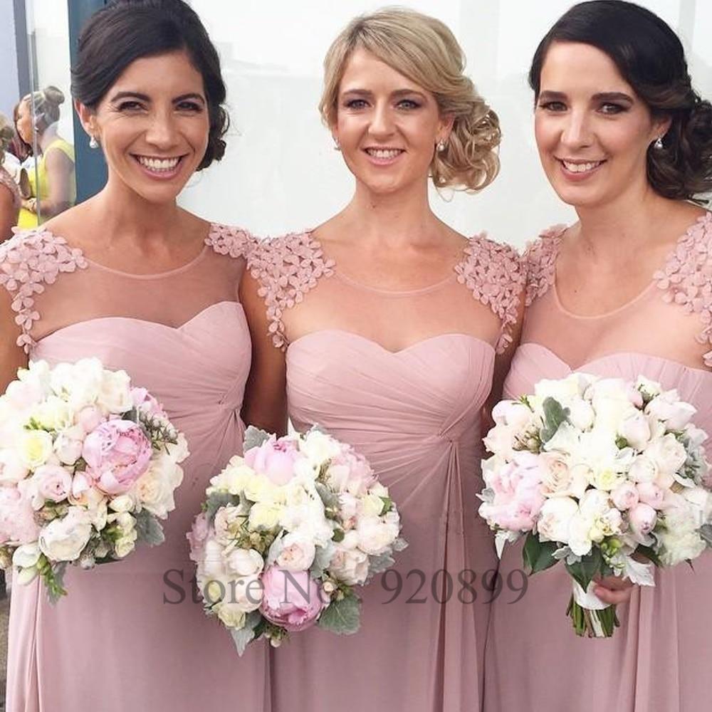 Asombroso Damas De Honor Vestido De Color Rosa Elaboración - Ideas ...