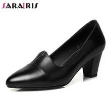 SARAIRIS 2019 Natural Cow Genuine Leather Office Lady Woman