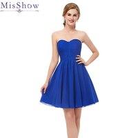 Homecoming dress cheap Royal blue a line mini cocktail party dress above knee short Chiffon homecoming dress Graduation Dresses