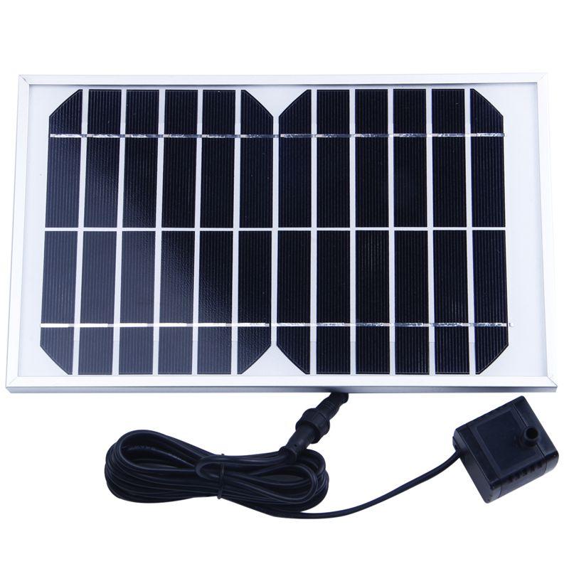 Solar Energie Wasser Pumpe Panel für Brunnen Teich 12V 500L/H
