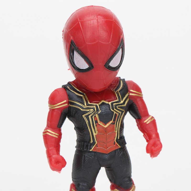 8 יח'\סט מארוול צעצועי 8-10cm נוקמי סוף המשחק תאנסו Ironman ספיידרמן Hulkbuster שחור פנתר Groot PVC פעולה דמויות דגם