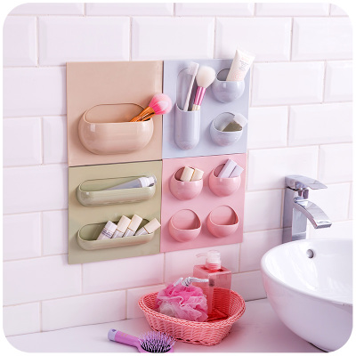 4PCS/Set MoeTron Ceative Decorative Wall Shelf Key Holder Wall Home Adhesive  Bathroom Shelf Plastic Wall Mounted Movable Shelf In Storage Holders U0026  Racks ...