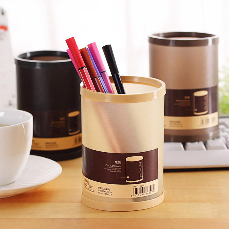 New Cute Plastic Pencil Holder Transparent Storage Box Tools Pen Stand For  Kids Home Office Organizer Box Free Shipping 3042