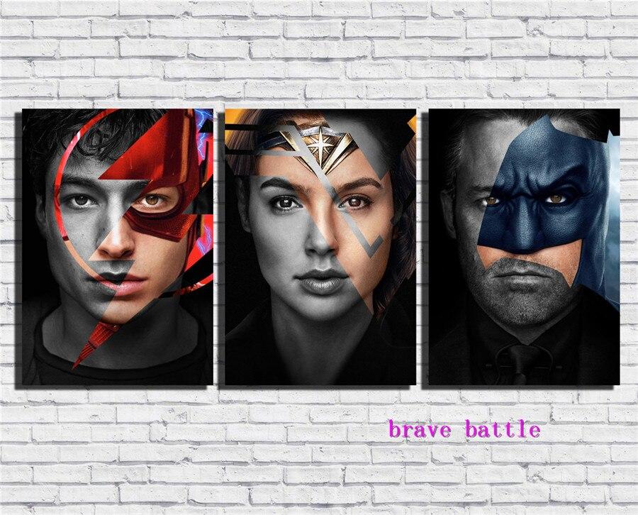 Justice League Toile Peinture Salon Décor À La Maison Moderne Art Mural Peinture À L'huile