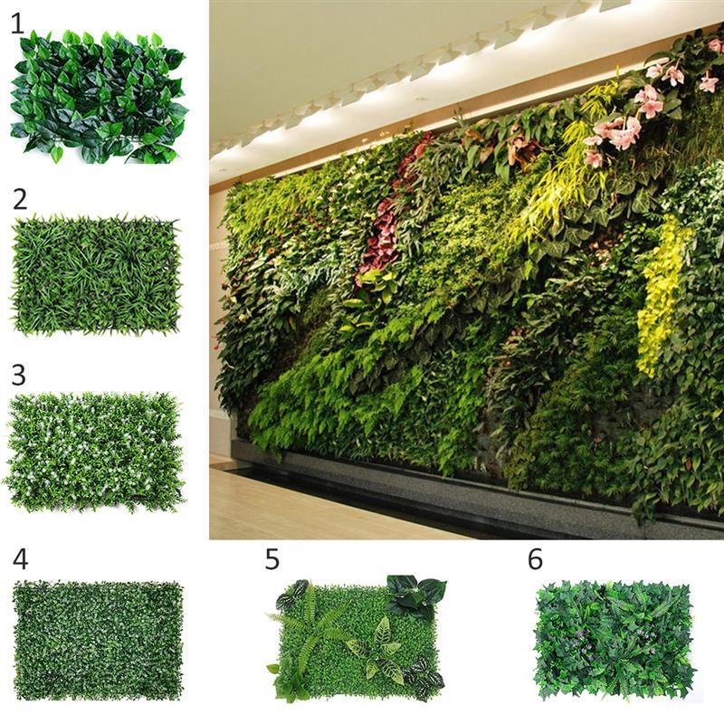 Wall Grass Grass Mat Green Artificial Plant Lawns Landscape Carpet Fake Grass Hedge Plant Fake Plant Wall Garden
