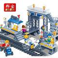 Banbao 8227 Train plataforma de transporte 342 unids Plastic modelo Building Block Sets Bricks educación de bricolaje juguetes regalo navidad