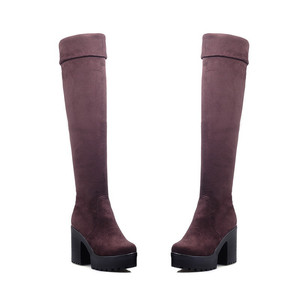 Image 3 - MORAZORA Three colors womens boots in spring autumn platform boots female fashion over the knee boots high heels big size 34 43