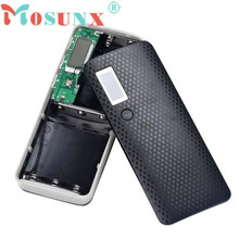 Hot-sale Mosunx Power Bank Box Gifts 5V 2A 18650 Power Bank Battery Box Charger For 5 Pcs Battery For iPhone & Smartphone