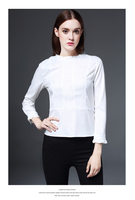 Fashion 2017 Autumn New White Blusas Femininas Chiffon Blouse Shirt Dropship HLN565