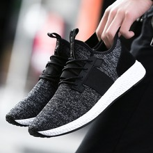 Postobon New Mesh Men Casual Shoes Lac-up Men Fly Knit Shoes Lightweight Comfortable Breathable Walking Sneakers Tenis Feminino